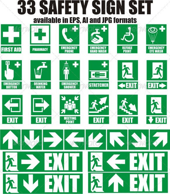 33 Emergency Sign - Man-made Objects Objects