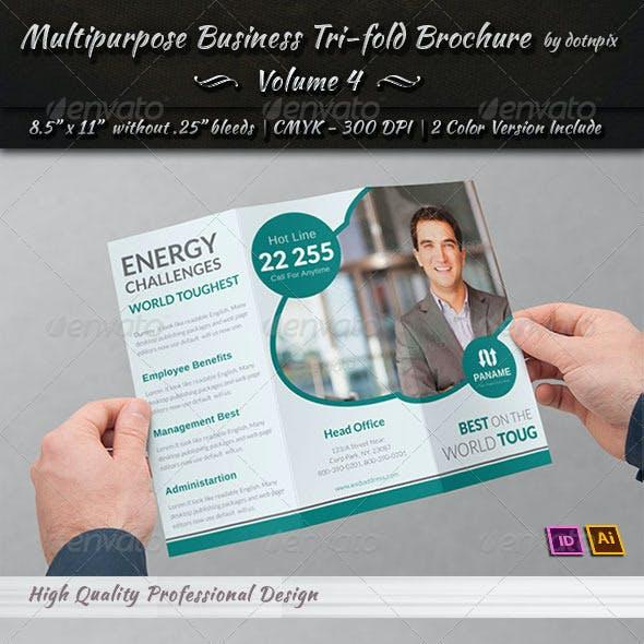 Multipurpose Business Tri-Fold Brochure   Volume 4