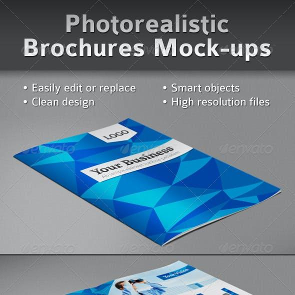 Photorealistic Brochures Preview Mock-ups