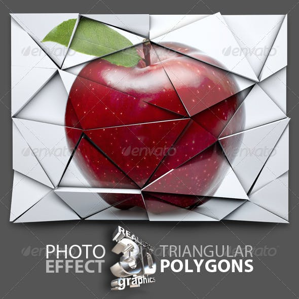 Photo 3D Polygon Effect