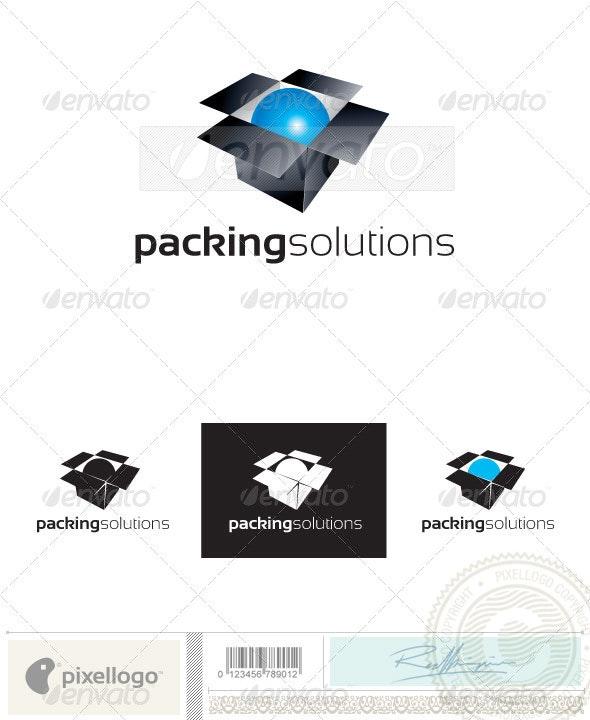 Box & Ball Logo - 2400 - Objects Logo Templates