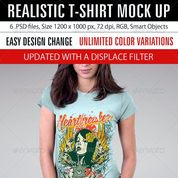 Realistic T-Shirt Mock Up