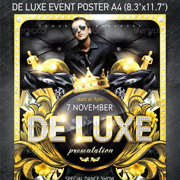 De Luxe Event Poster