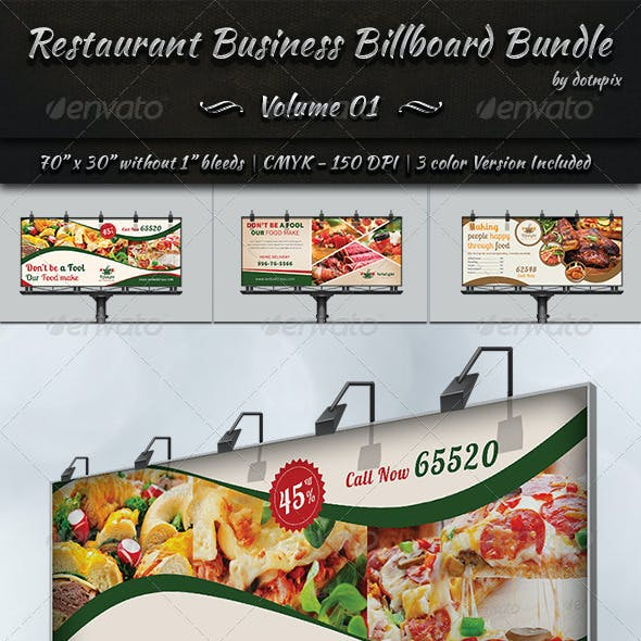 Restaurant Business Billboard Bundle | Volume 1