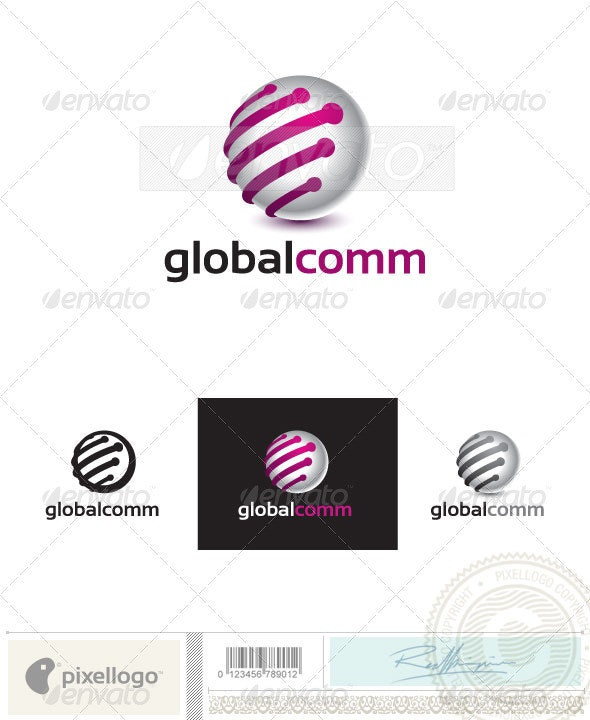 Communication Logo - 2414 - Vector Abstract
