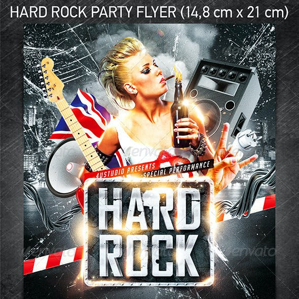 Hard Rock Party Flyer
