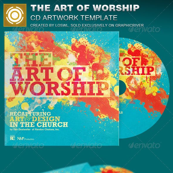 The Art of Worship CD Artwork Template