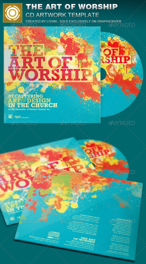 The Art of Worship CD Artwork Template - CD & DVD Artwork Print Templates