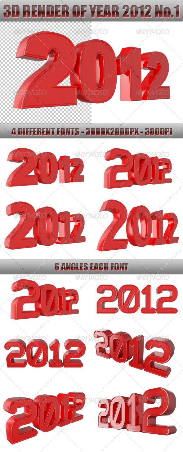 3D Render Of Year 2012 No.1 - Characters 3D Renders