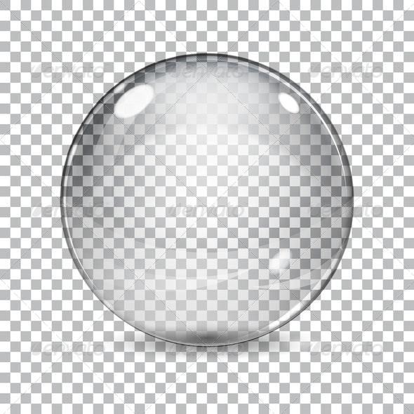 Transparent Glass Sphere - Decorative Symbols Decorative