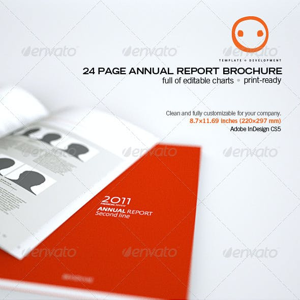 24 Page Annual Report Brochure