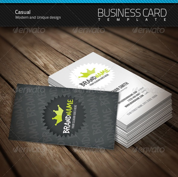 Casual Business Card - Corporate Business Cards
