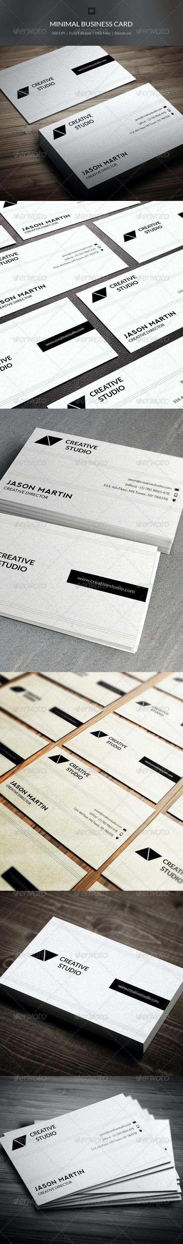 Minimal Business Card - 01 - Creative Business Cards