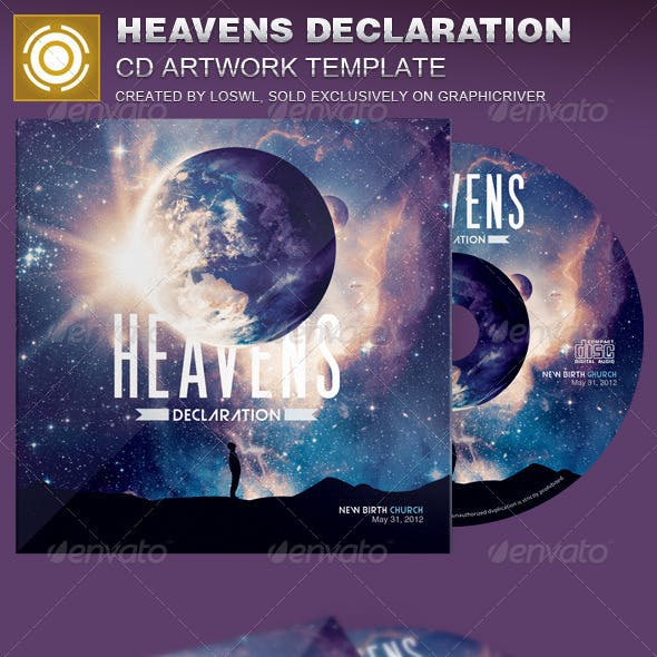 Heavens Declaration CD Artwork Template