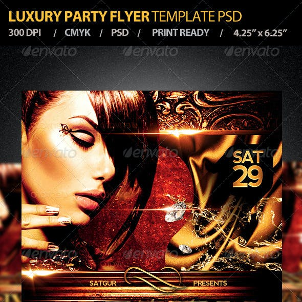 Luxury Party Flyer Template PSD