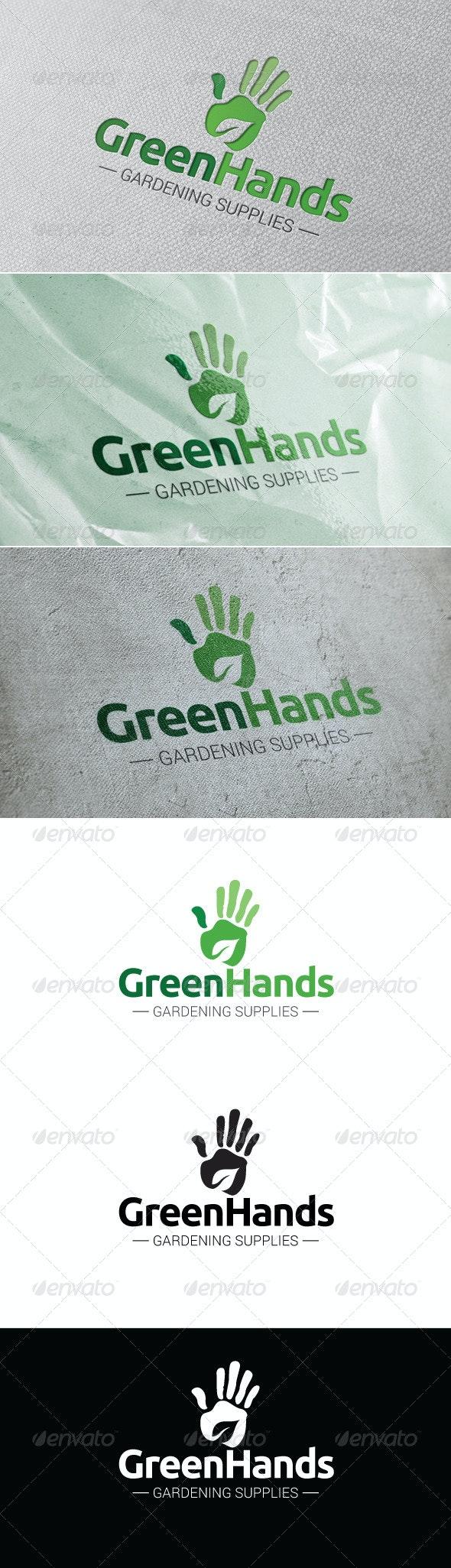 Green Hands Logo Template - Humans Logo Templates