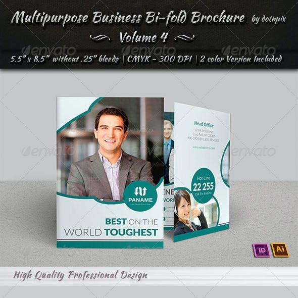 Multipurpose Business Bi-Fold Brochure | Volume 4