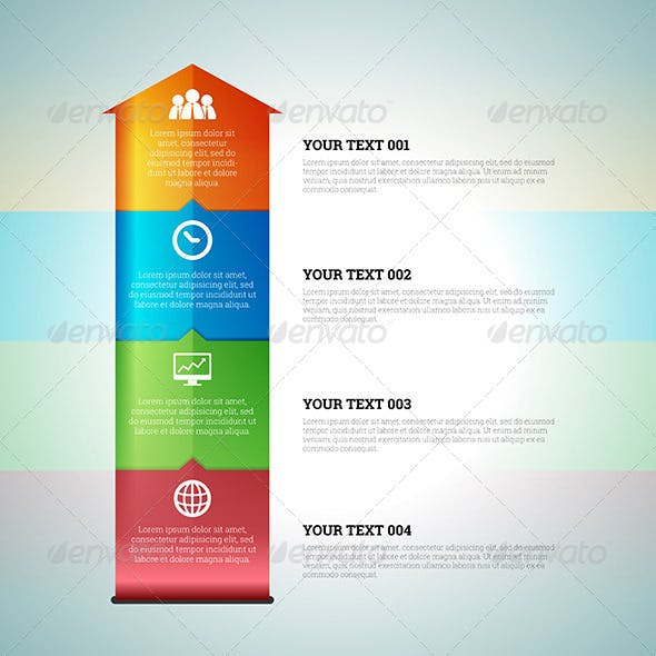 Arrow Chart Graphic Infographic Elements