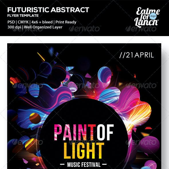 Futuristic Abstract Flyer - Paint of Light