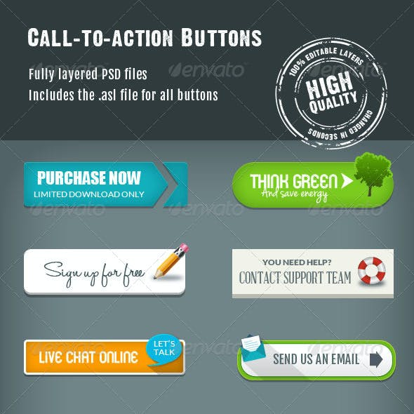 Call-To-Action Buttons Vol.III