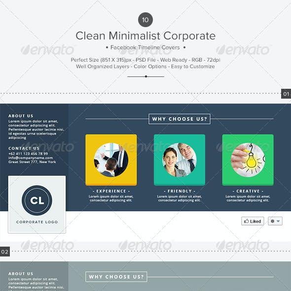 10 Clean Minimalist Corporate Facebook Covers