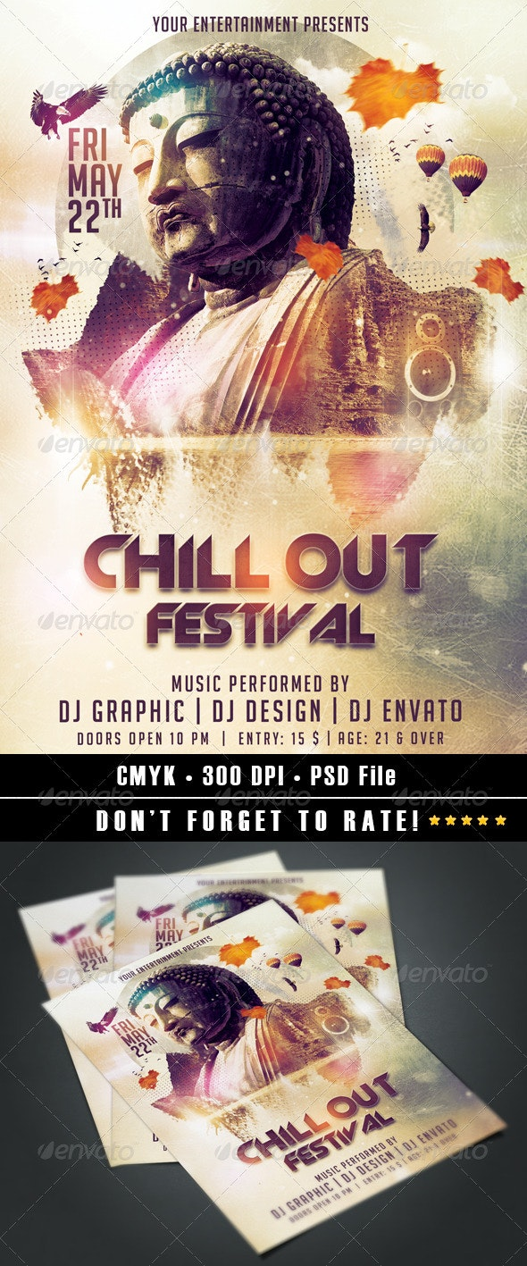 Chill Out Festival - Events Flyers