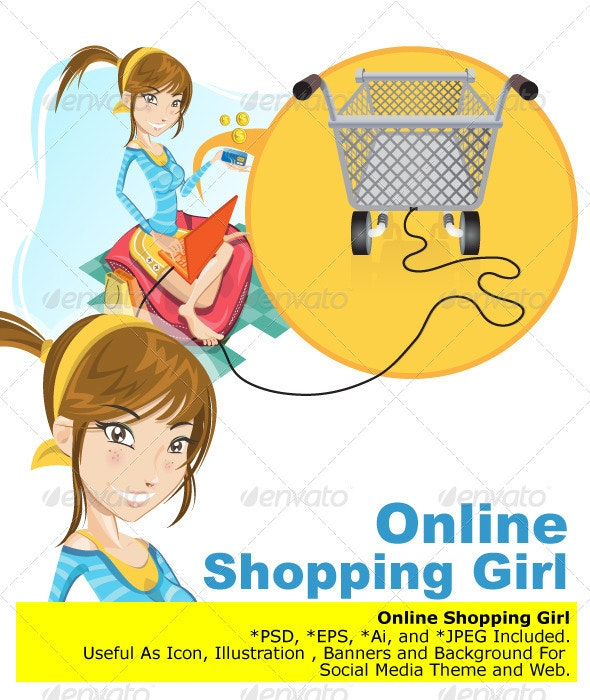 Online Shopping Girl  - Commercial / Shopping Conceptual