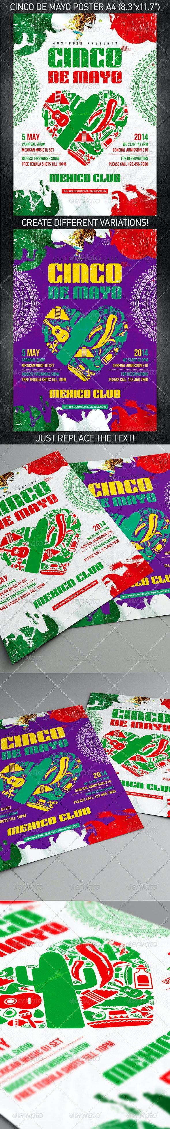 Cinco de Mayo party poster - Holidays Events