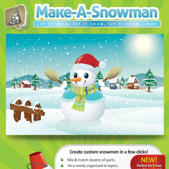 Vector Snowman Creation Pack