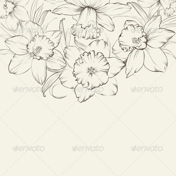Ornate Greeting Card Design - Flowers & Plants Nature