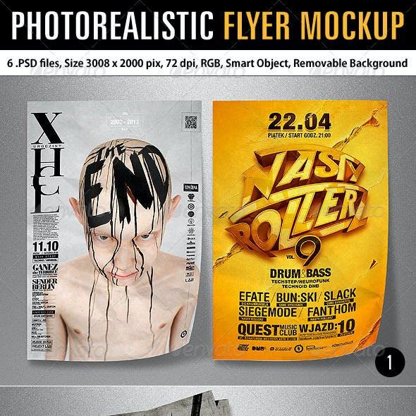 Photorealistic Flyer Mockup