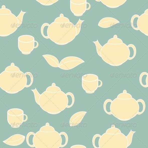 Tea Seamless Pattern Background