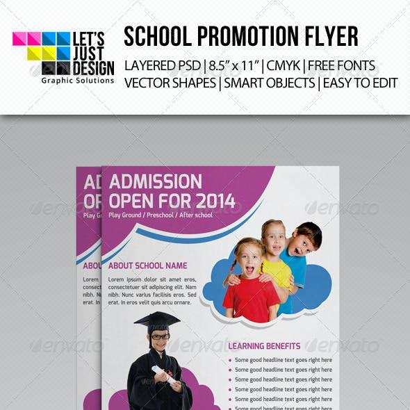 School Promotion Flyer Template