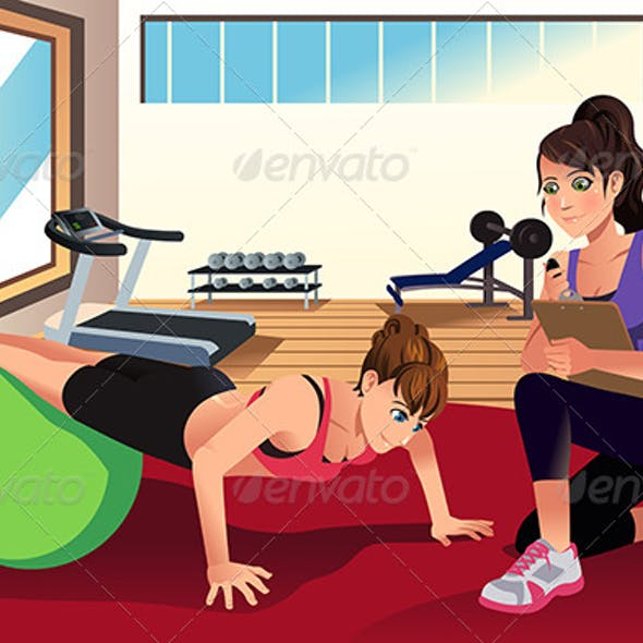 Female Personal Trainer Training a Woman
