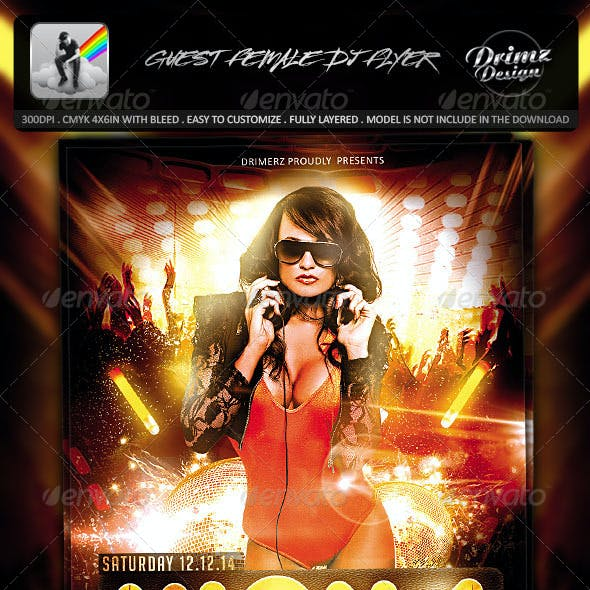 Guest Female DJ Flyer