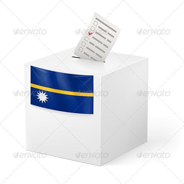 Ballot Box with Voting Paper Nauru