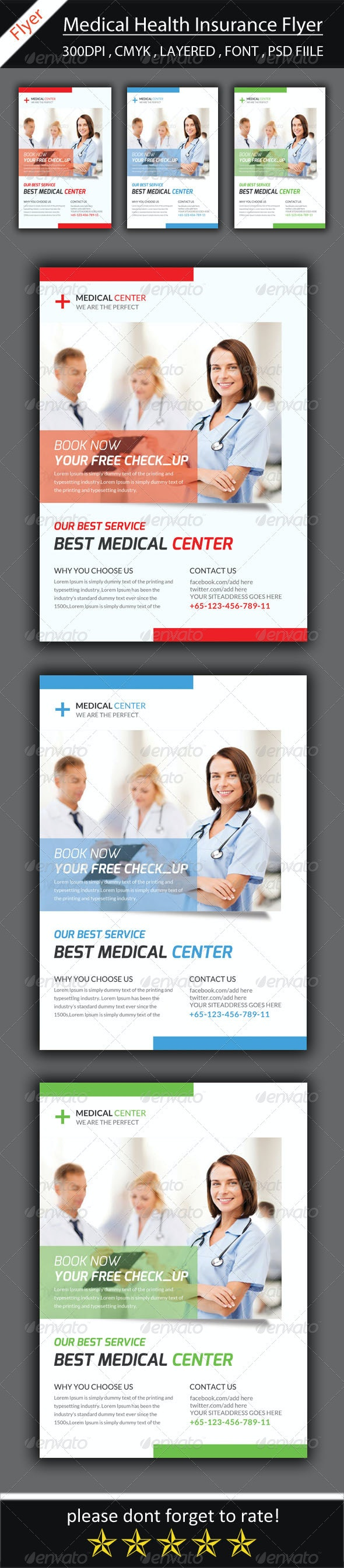 Medical Insurance Flyer Template - Corporate Flyers