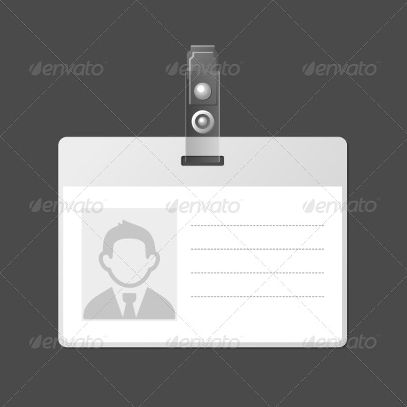 Blank Identification Card Badge ID Template - Services Commercial / Shopping