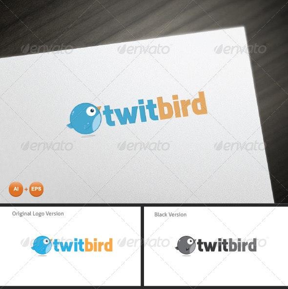 Twit Bird Mascot Logo - Animals Logo Templates
