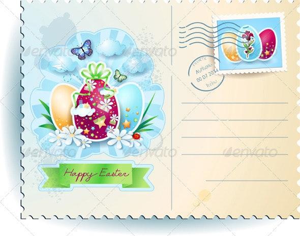 Easter Postcard - Miscellaneous Seasons/Holidays