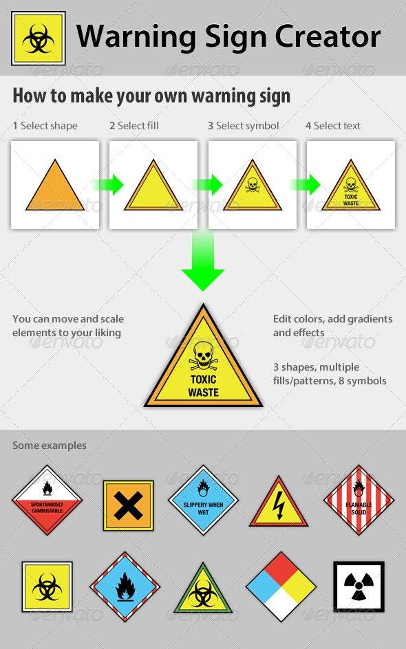 Warning Sign Creator - Decorative Symbols Decorative