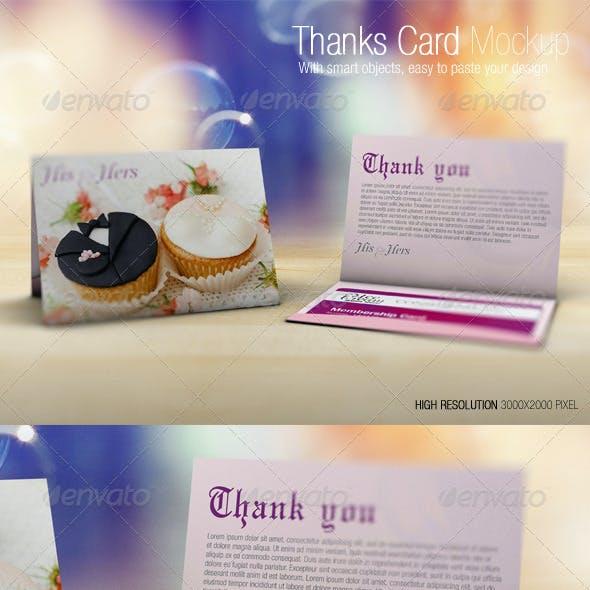 Thanks Card Mockup