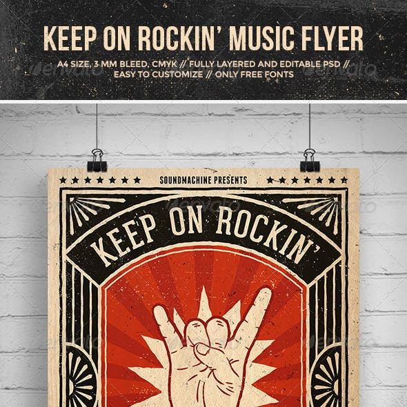 Keep On Rockin' Music Flyer