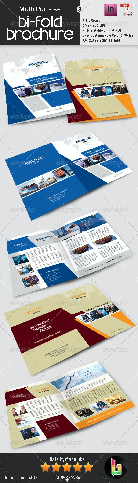 Multi Purpose Bi-Fold Brochure 3 - Corporate Brochures