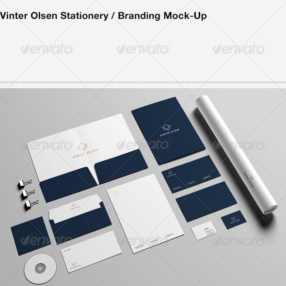 Stationery / Branding Mock-Up - Vinter Olsen