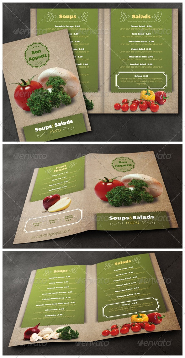 Healthy Food Menu Template - Food Menus Print Templates