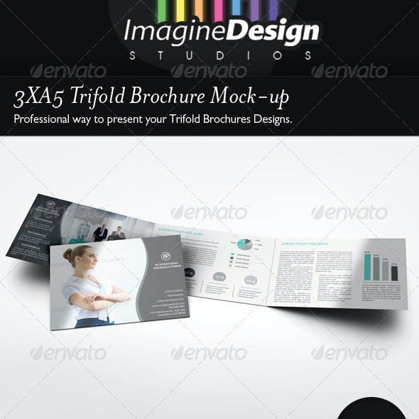 3xA5 Trifold Brochure Mock-up Landscape