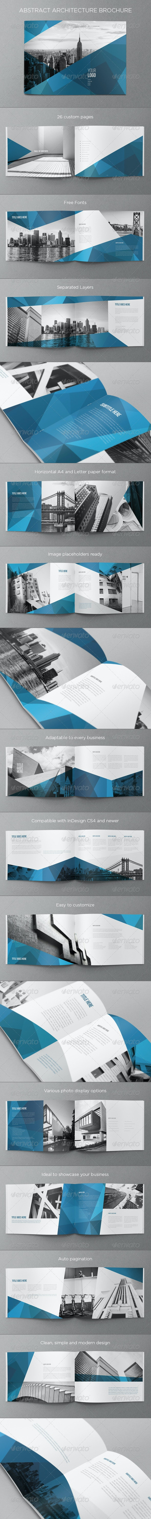 Abstract Architecture Brochure - Brochures Print Templates