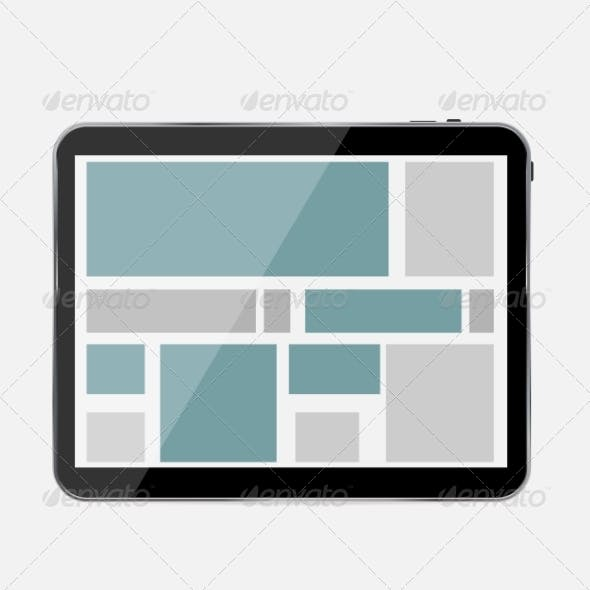 Abstract Design Tablet - Vector Illustration
