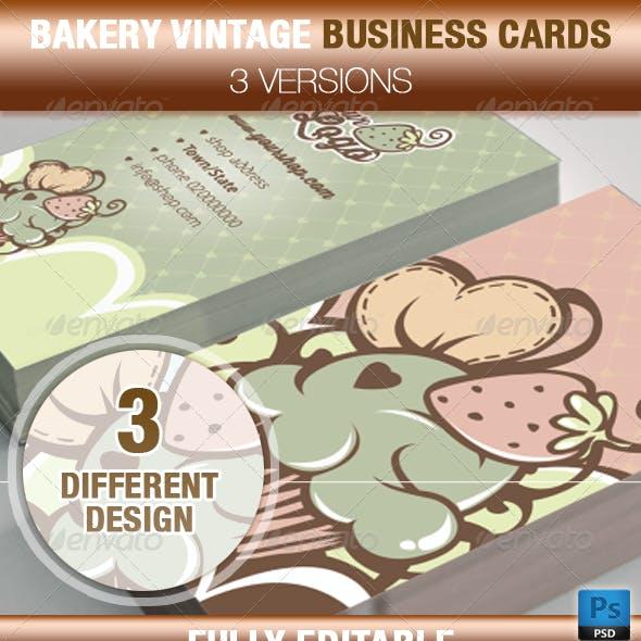 Cupcake and Cake Design Business Card Templates